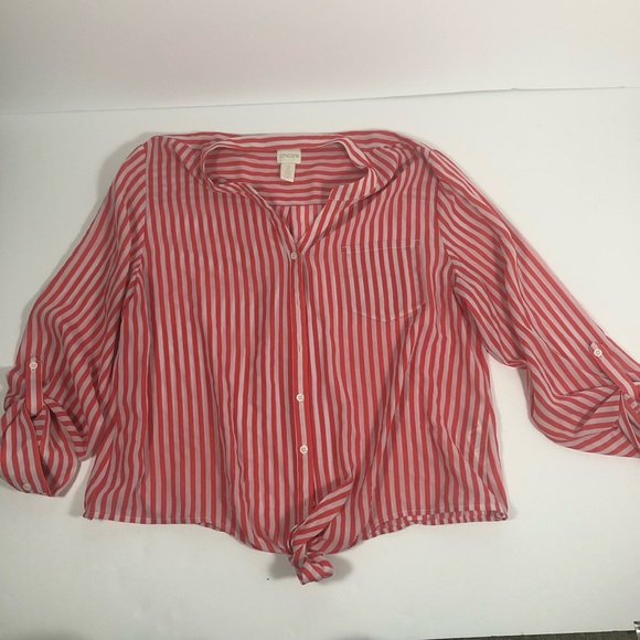 Chico's Tops - Chicos tie front top